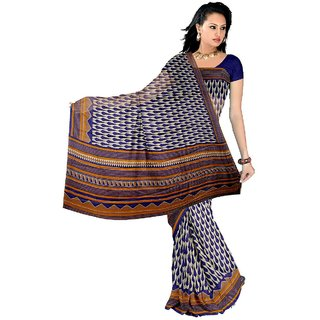 Somya Admirable Womens Bhagalpuri Silk Printed Orange Saree