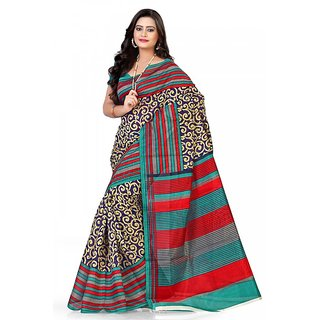 Florence Multi Color Bhagalpuri Silk Saree (FL-10647)