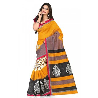 Florence Multi Color Bhagalpuri Silk Saree (FL-10648)