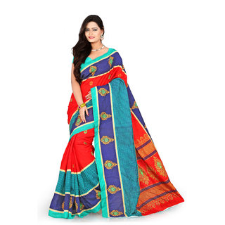 Florence Multi Color Bhagalpuri Silk Saree (FL-10652)