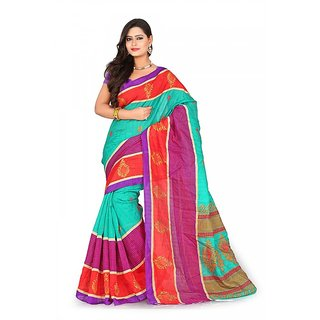 Florence Multi Color Bhagalpuri Silk Saree (FL-10653)