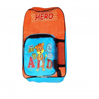 Akash Ganga Blue & Orange School Bag for Kids (SB47)