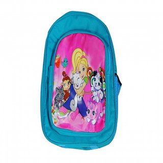 Akash Ganga Light Blue Cartoons School Bag for Kids (SB62)