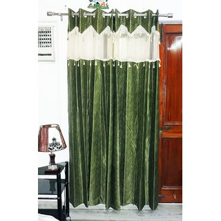Self Design Green Curtain(21)