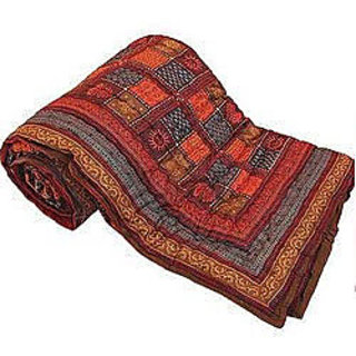 Marwal Jaipuri Print Cotton Double Bed Razai Quilt