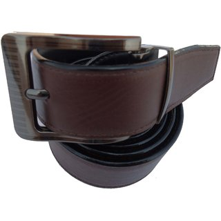 Men's Formal Brown Synthetic Belt - PB PRC 003