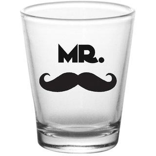 10 am Mr. & Mrs. Shot Glasses  - set of 2