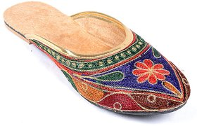 Forever Living Women's Multicolor Ethnic Flats