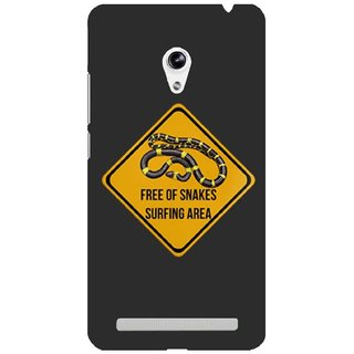 The Fappy Store Surf-Caution-Sign Plastic Back Case Cover For Asus Zenfone 5