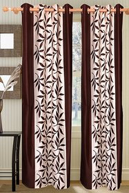 Vrinda Khoobsurat Leave Printed Curtain