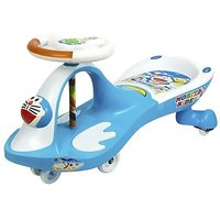 Doremon Swing Car For Kids(Blue, White)
