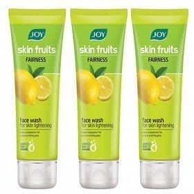 JOY Skin Fruits Fairness (Lemon) Face Wash 150 ml (Pack of 3 x 50 ml)