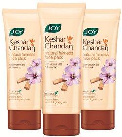 JOY Keshar Chandan Natural Fairness Face Pack -180 ml (Pack of 3 x 60 ml)