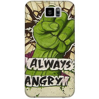 The Fappy Store Always-Angry Hard Plastic Back Case Cover Samsung Galaxy S6