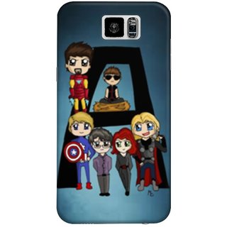 The Fappy Store Avengers-Phone-Case Plastic Back Case Cover Samsung Galaxy S6