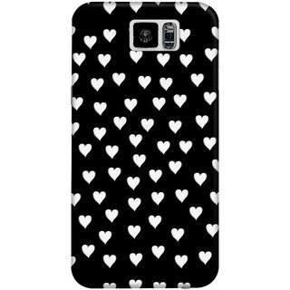 The Fappy Store Black White Hard Plastic Back Case Cover For Samsung Galaxy S6
