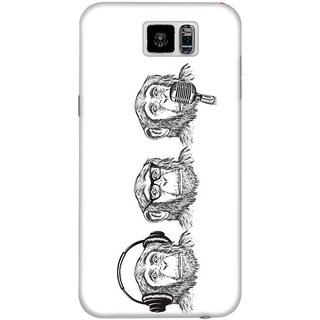 The Fappy Store Hear-Evil Hard Plastic Back Case Cover For Samsung Galaxy S6