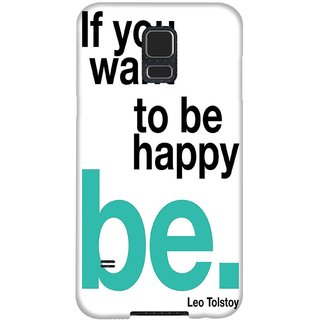 The Fappy Store Be-Happy Hard Plastic Back Case Cover Samsung Galaxy S5