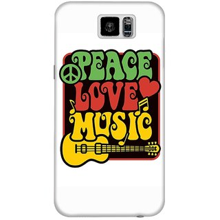 The Fappy Store Peace-Love Hard Plastic Back Case Cover For Samsung Galaxy S6