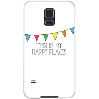 The Fappy Store Happy-Place Hard Plastic Back Case Cover For Samsung Galaxy S5