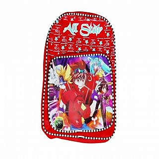Akash Ganga Beautiful Red School Bag for Kids (SB68)