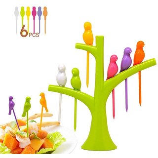 Original bird fruit Ankur Birdie Fruit Fork 6Pcs