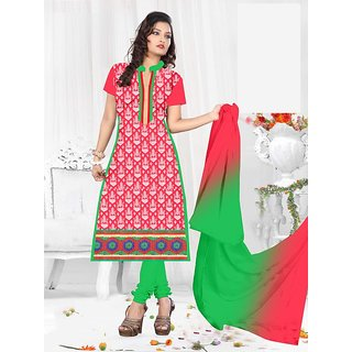 Dk Fab Cotton Embroidered Unstitched Salwar Suit