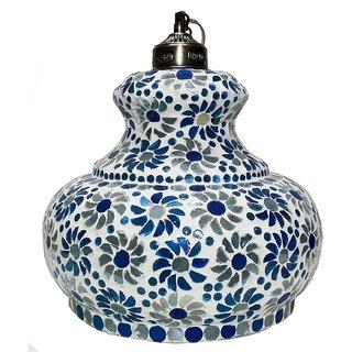 Beadworks Mosaic Glass Hanging Lamp