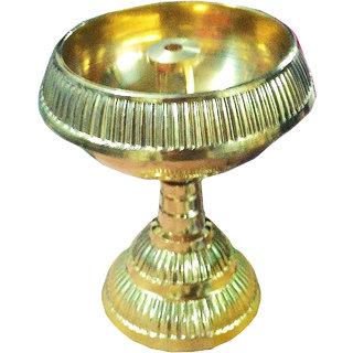 only4you Decorative Center Pooja Diya - Pure Brass