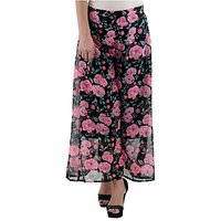 Raabta Fashion Black Georgette Floral For Women