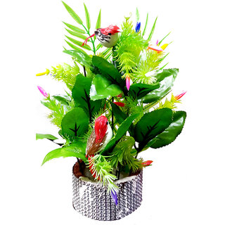Decorative Flower Pot with Flowers - Sparrow