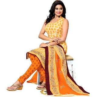 Drapes Red Lace Dupion Silk Salwar Suit Material (Unstitched)