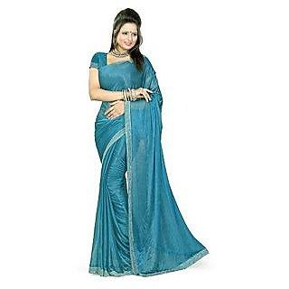 Sukuma Black Raw Silk Self Design Saree Without Blouse