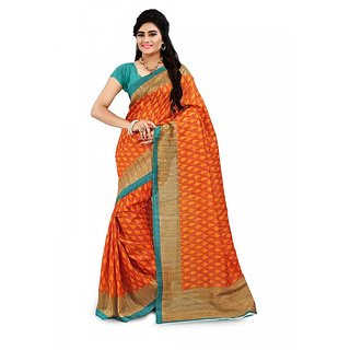 Florence Multi Color Bhagalpuri Silk Saree (FL-10669)