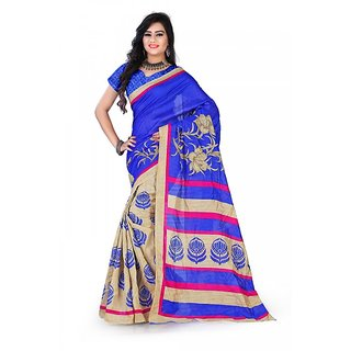 Florence Multi Color Bhagalpuri Silk Saree (FL-10674)