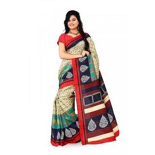Florence Multi Color Bhagalpuri Silk Saree (FL-10675)