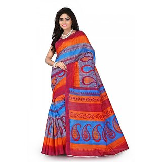 Florence Multi Color Bhagalpuri Silk Saree (FL-10679)