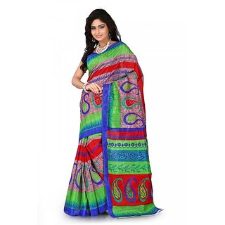 Florence Multi Color Bhagalpuri Silk Saree (FL-10680)