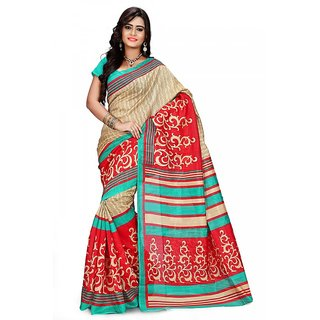 Florence Multi Color Bhagalpuri Silk Saree (FL-10682)