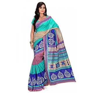 Florence Multi Color Bhagalpuri Silk Saree (FL-10687)