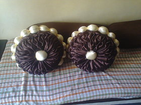 satin cushion in hanmade