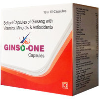 GINSO ONE , MULTIVITAMIN AND ANTIOXIDANT 100 CAPSULE BY GRAPPLE LIFESCIENCE