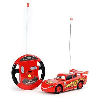 UNIQUE- ALL NEW MCQUEEN STYLISH 4 FUNCTION REMOTE CAR- FAST SPEED - SMOOTH DRIVE