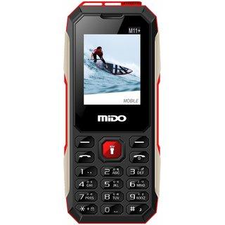 Mido M11+ (Dual Sim, 1.8 Inch Display, 1200 Mah Battery, Red)