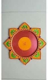 Pooja Thali - Kundan & Wood