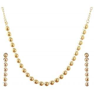 Zakina Women's Necklace Set (Golden) ZE037