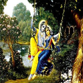 New Radha Krishna Digital Wall Painting 12 15 Inch