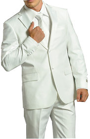 Gwalior Suitings Premium White Suit Length 3 Metre