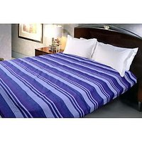 Cotton Handmade Kerala Bed Sheet- King Size(220x250 Cm)-dark Blue