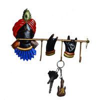 ECraftIndia Wrought Iron Lord Krishna Key Holder